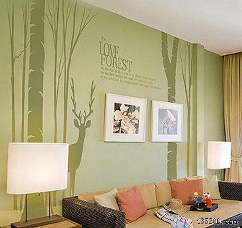 欧式走廊墙绘图片