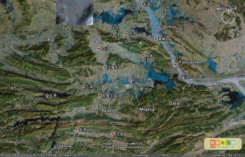 阳新地图--阳新城区地图--阳新卫星地图--阳新在湖北